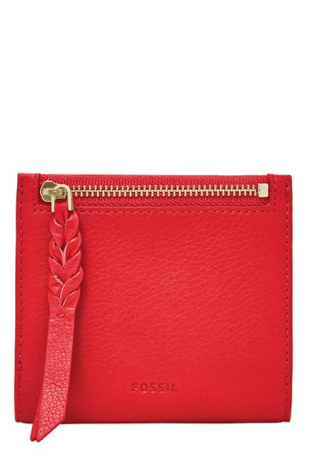 Fossil Caroline RFID Chili Pepper Solid Leather Wallet