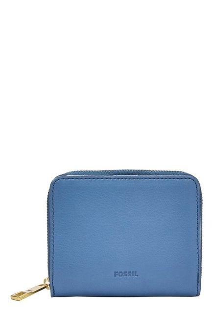Fossil Emma RFID Cornflower Solid Leather Wallet