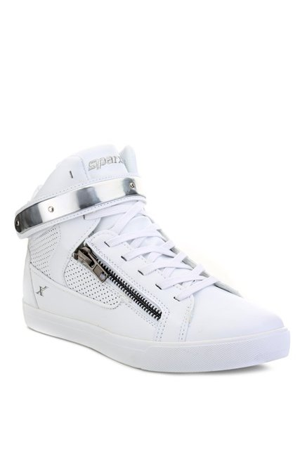 de60cbf12e2fb2 Buy Sparx White   Silver Ankle High Sneakers for Men at Best Price ...