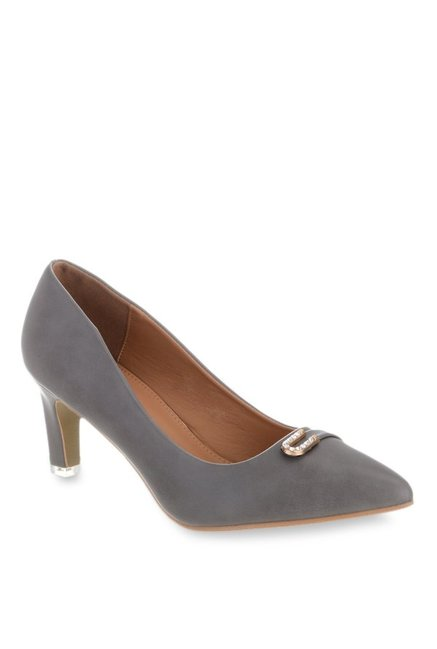 Shuz Touch Dark Grey Casual Pumps