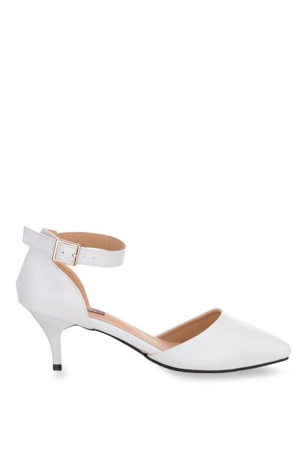 50f604ad1c86 Buy Shuz Touch White Ankle Strap D orsay Sandals for Women at Best ...