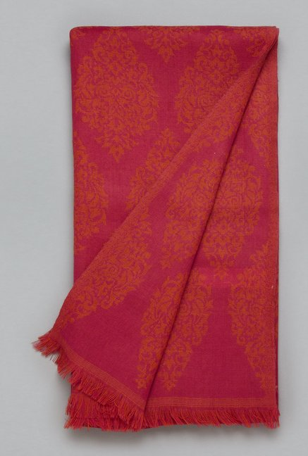 Utsa by Westside Pink Pure Wool Shawl