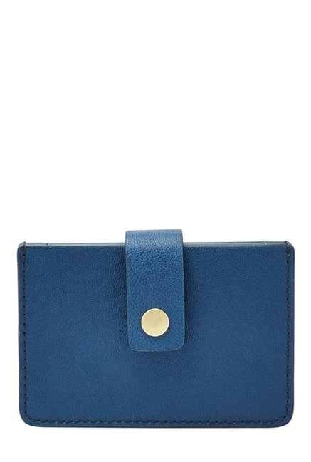 Fossil Marine Blue Solid Leather Wallet