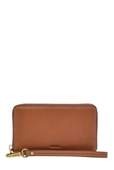 Fossil Emma RFID Brown Solid Leather Wallet