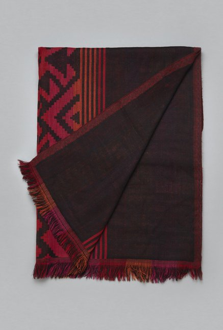 Utsa by Westside Multicolor Pure Wool Stole