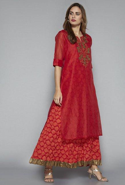 ba26af3bd Buy Vark by Westside Red Ethnic Set for Women Online @ Tata CLiQ