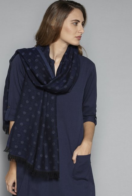 Utsa by Westside Indigo Pure Wool Stole