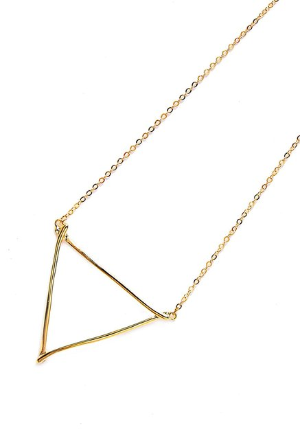 Shop Lune Yellow Alloy Triangle Necklace