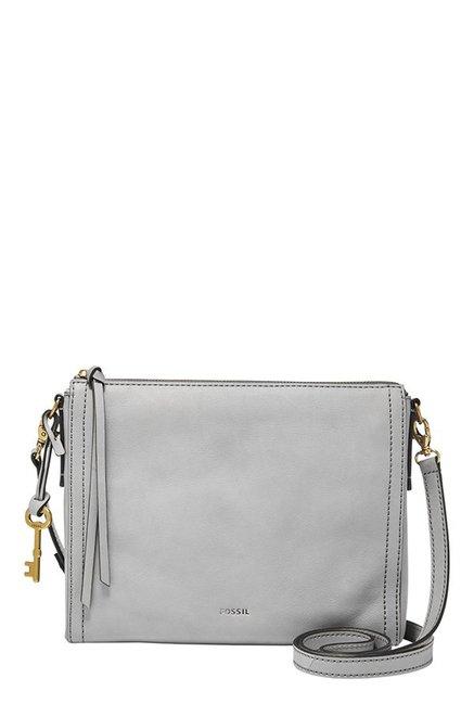 Fossil Emma EW Grey Leather Sling Bag