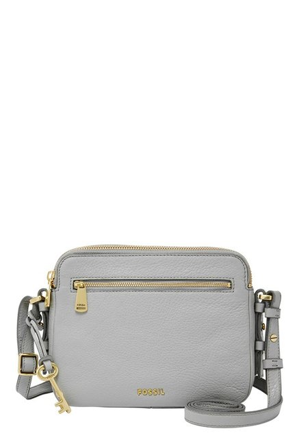 0eaf262ea Buy Fossil Piper Grey Leather Sling Bag For Women At Best Price ...