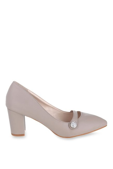 Shuz Touch Grey Casual Pumps