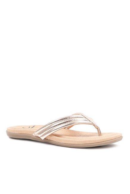f9d693293655 Buy Carlton London Rose Gold Thong Sandals for Women at Best Price   Tata  CLiQ