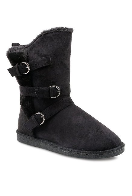 e4af7f9bfd5d Buy Carlton London Black Snow Boots for Women at Best Price ...