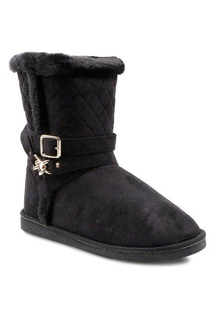 Buy Carlton London Black Snow Boots for