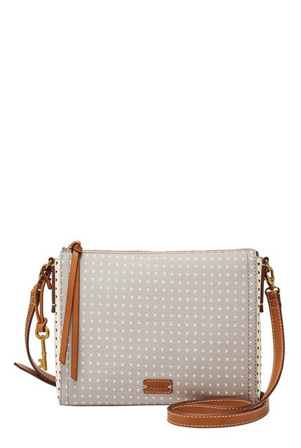 2eaba9825 Buy Fossil Emma EW Grey Printed Leather Sling Bag For Women At Best Price @  Tata CLiQ
