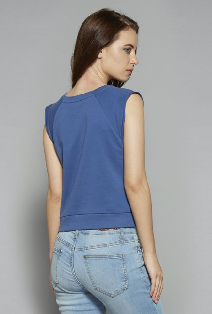 Nuon by Westside Blue Crop T-Shirt