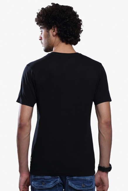 883 Police Black Printed Cotton T-Shirt