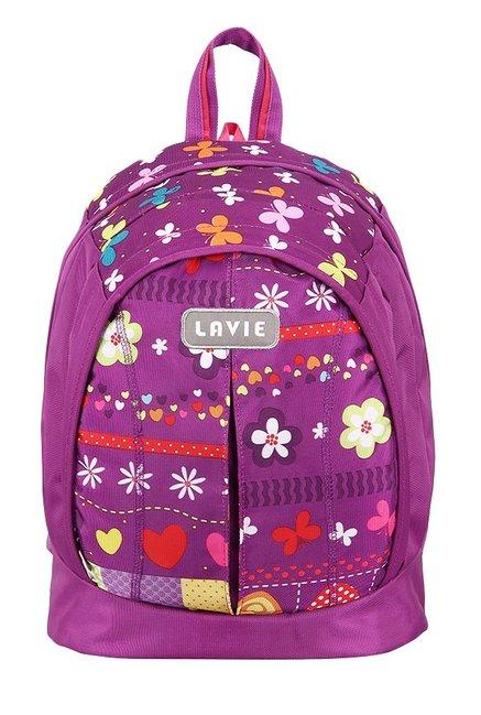 Lavie Tatoo Girl 2 Purple Printed Backpack