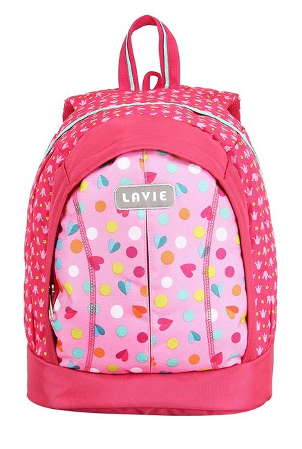 Lavie Tatoo Girl 1 Pink Printed Backpack