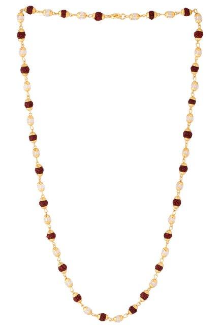 5a19f879390b0 Buy Voylla Brown Alloy Rudraksha Beaded Chain for Men Online At Best ...