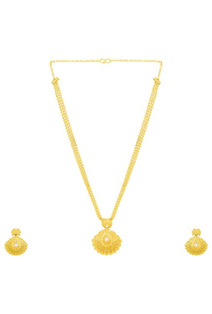 6df6b0dc5519cf Buy Voylla Golden Alloy Ethnic Pendant Set for Women Online At Best Price @  Tata CLiQ