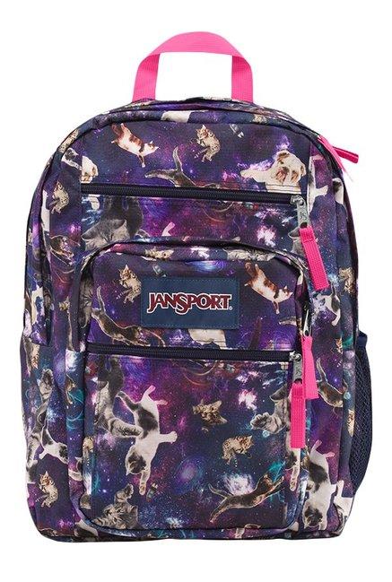 JanSport Big Student Astro Kitty Navy & Purple Backpack