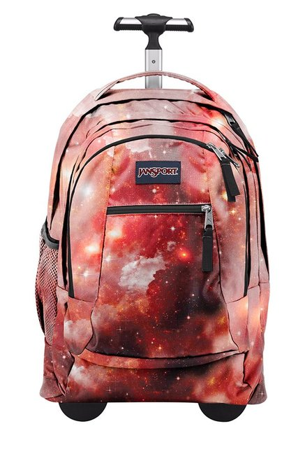 JanSport Driver 8 Galaxy Red Printed Laptop Trolley Backpack