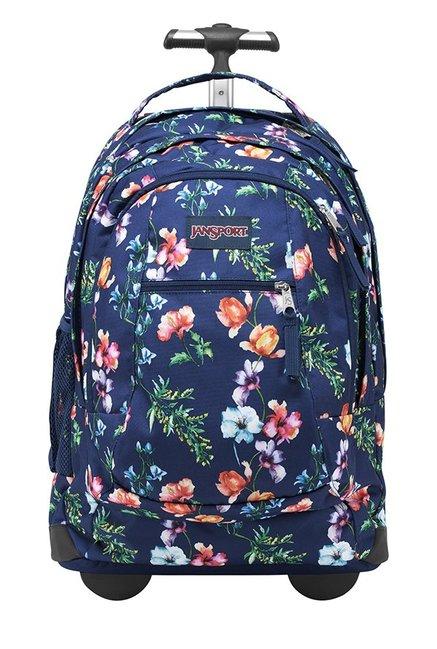 JanSport Driver 8 Mountain Meadow Dark Blue Trolley Backpack