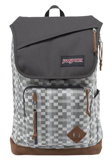 JanSport Hensley Grey & White Laptop Backpack