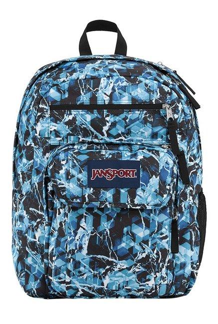 JanSport Digital Student Ice Blue & Black Laptop Backpack