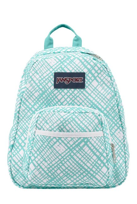 JanSport Half Pint Jagged Turquoise Green & White Backpack