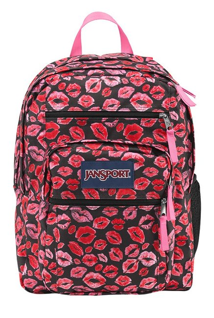 Buy JanSport Big Student Kiss Me Quick Black & Red Backpack For