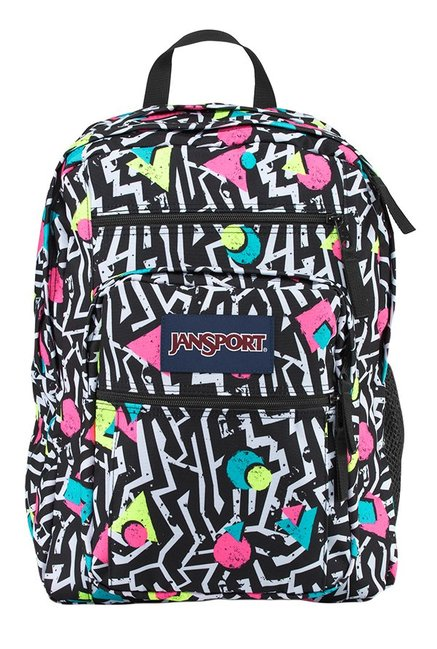 JanSport Big Student Bebop Black & White Printed Backpack