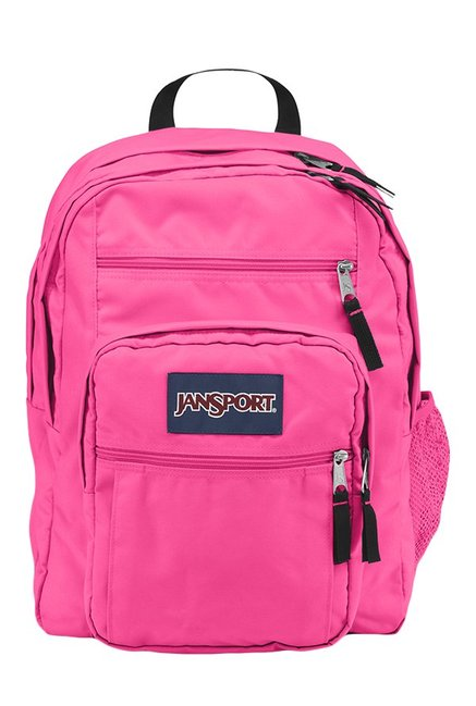 JanSport Big Student Fluorescent Pink Backpack