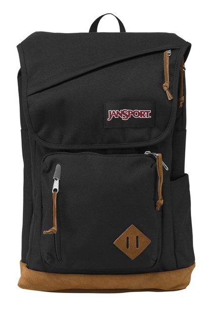 JanSport Hensley Black & Tan Polyester Laptop Backpack