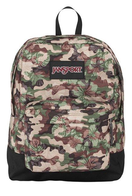 JanSport Black Label Superbreak Olive Green & Brown Backpack