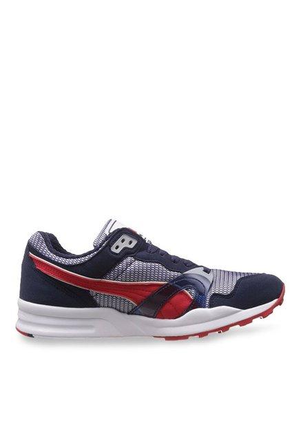 093624b133bfc1 Buy Puma Trinomic XT 1 Plus Peacoat   Red Running Shoes for Men at Best  Price   Tata CLiQ