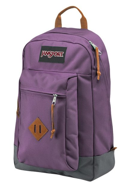 JanSport Reilly Frost Purple & Grey Solid Laptop Backpack