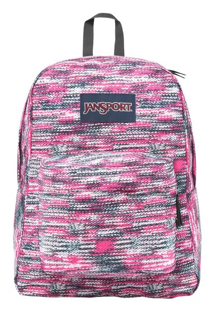 a4bdd4f67852 Buy JanSport Superbreak Pink   White Printed Polyester Backpack For Women  At Best Price   Tata CLiQ