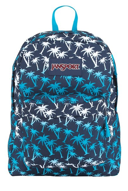 JanSport Superbreak Moonshine Island Navy & White Backpack