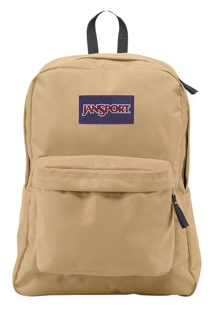 JanSport Superbreak Beige Polyester Backpack