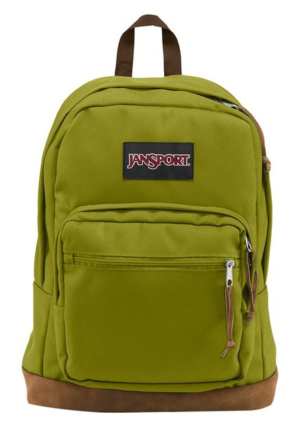 JanSport Right Pack Forest Green & Brown Laptop Backpack