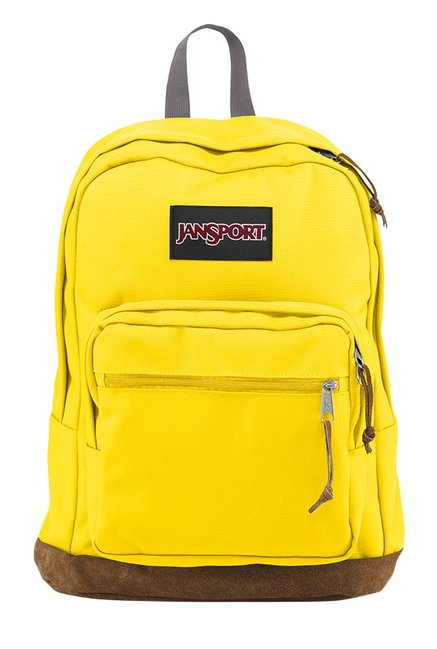 JanSport Right Pack Yellow & Brown Solid Laptop Backpack