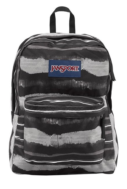 31eeb3f540e3 Buy JanSport Superbreak Black   White Printed Polyester Backpack Online At  Best Price   Tata CLiQ