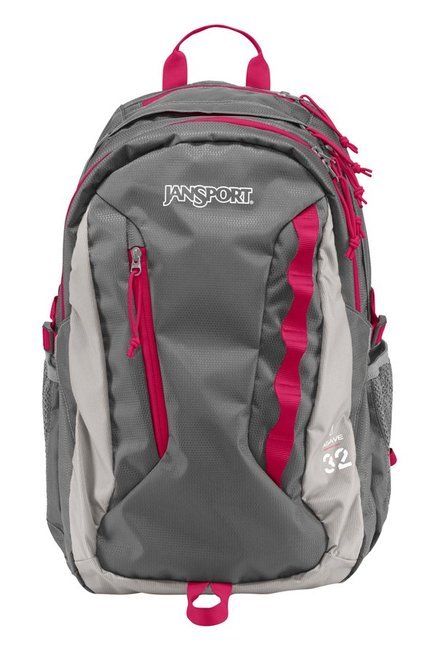 JanSport W Agave New Storm Grey Textured Laptop Backpack