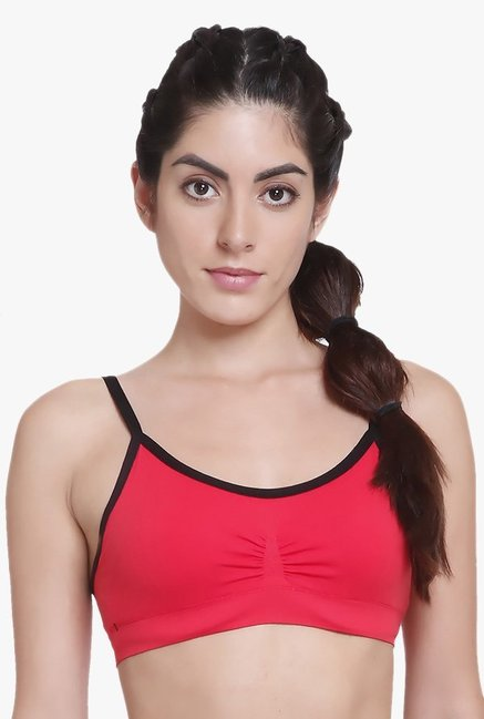 C9 Red Non Wired Non Padded Bra