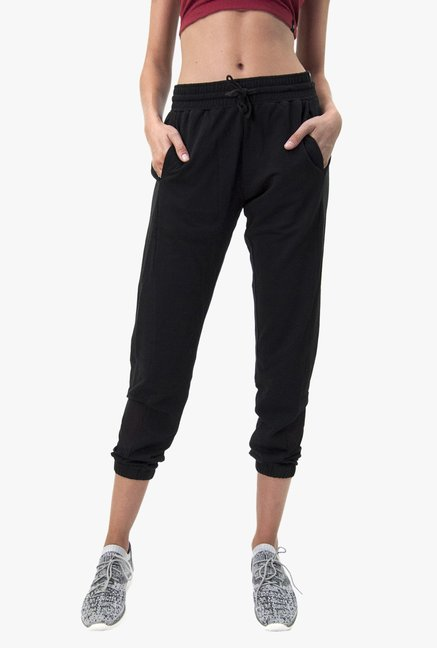 ca7a2636a Buy Satva Black Naya Organic Cotton Joggers for Women Online @ Tata CLiQ