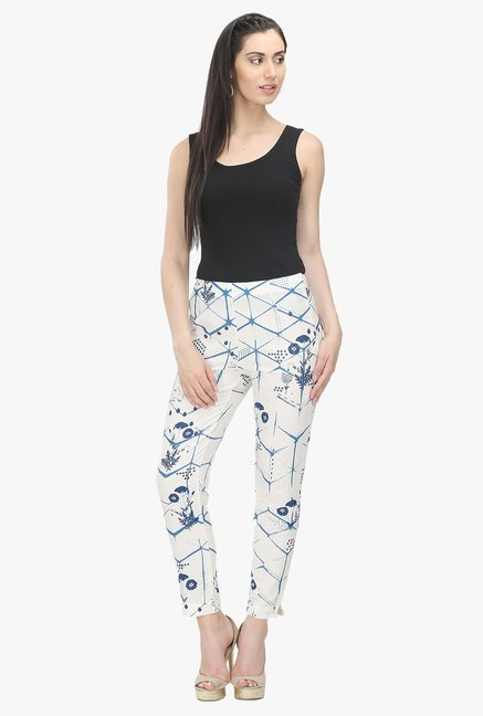 W White Regular Fit Trousers