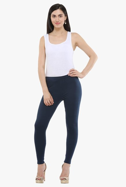 W Navy Regular Fit Leggings