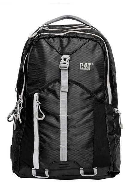 CAT Mont Blanc Black Textured Polyester Backpack